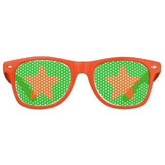 Halloween Orange Star Party Shades