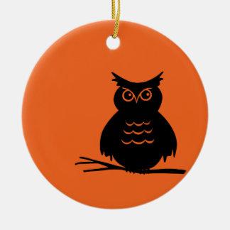 Halloween Owl Ceramic Ornament