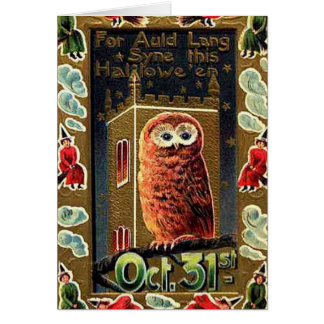 Halloween Owl - Greeting Card