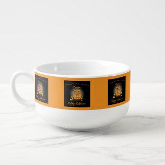 Halloween Owl Soup Mug