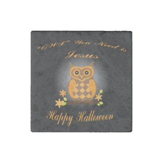 Halloween Owl Stone Magnets