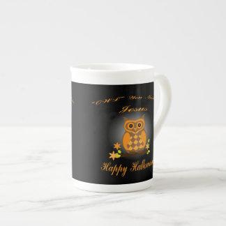 Halloween Owl Tea Cup