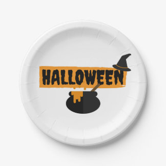 Halloween Paper Party Plates 7 Inch Paper Plate