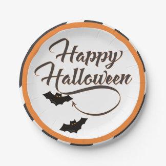 Halloween paper plate