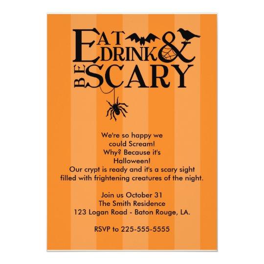 "Halloween Party 5"" X 7"" Invitation Card"