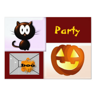 "Halloween Party 5"" X 7"" Invitation Card"