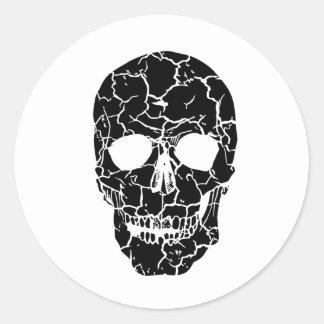 Halloween Party Black White Skeleton Skull Sticker