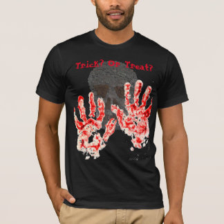 Halloween Party Bloody Hand Prints T-Shirt
