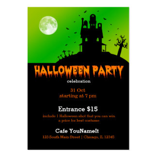 Halloween party business cards