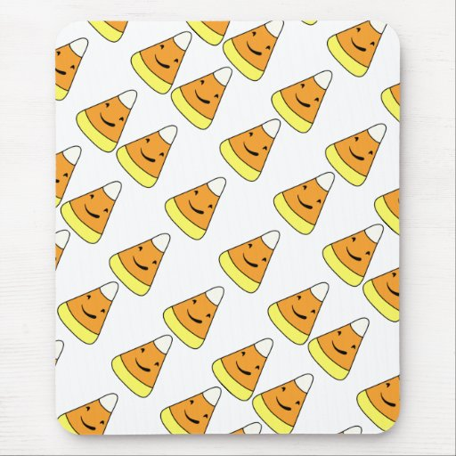 halloween party candy corn cartoon print 2013 mouse pad