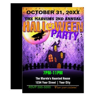 Halloween Party Club Promo Flyer Grunge Invitation