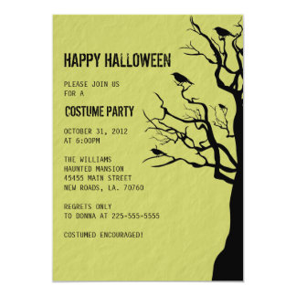 Halloween Party | Crows Card