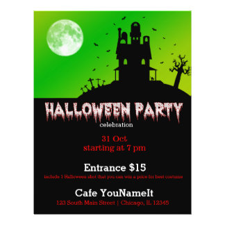 Halloween party custom flyer