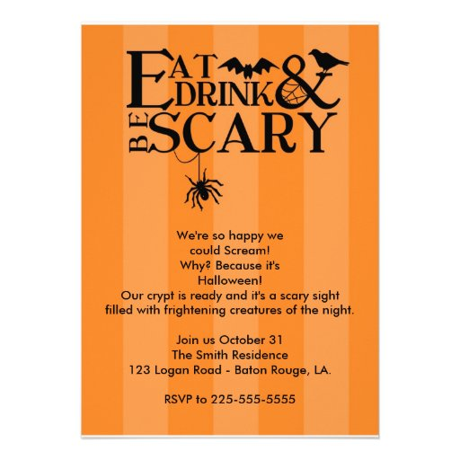 Halloween Party Custom Invitations