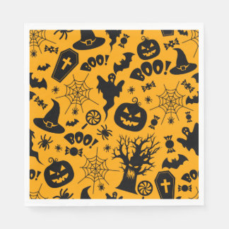 Halloween party cute paper napkins