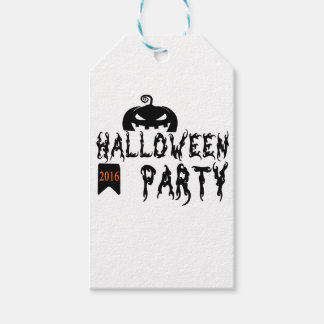Halloween party design pack of gift tags