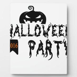 Halloween party design plaque