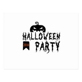 Halloween party design postcard