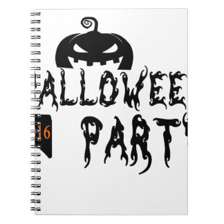 Halloween party design spiral notebook