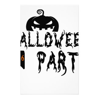 Halloween party design stationery