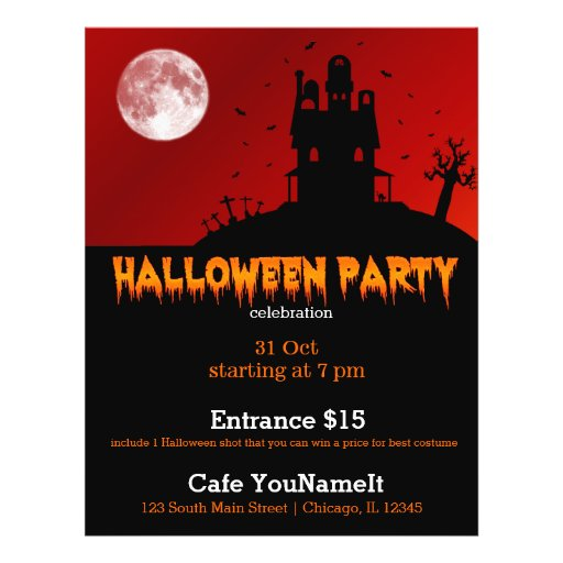 Halloween party personalized flyer