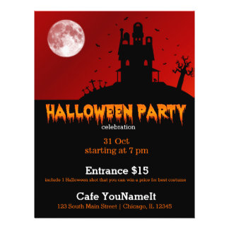 Halloween party full color flyer
