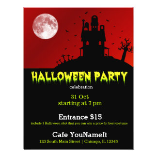 Halloween party full colour flyer