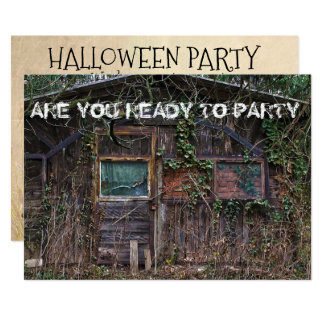 Halloween Party Haunted House Invitation