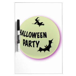 Halloween Party Icon Dry Erase Board