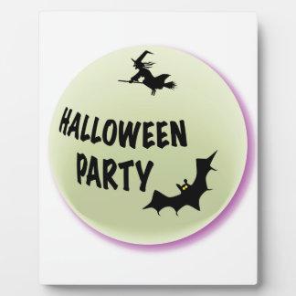Halloween Party Icon Plaque