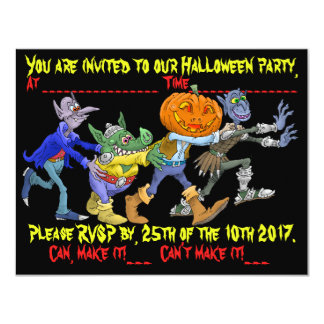 Halloween party invitation. card
