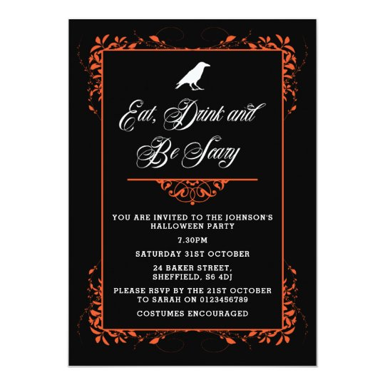 Halloween party invitation - elegant adult invite