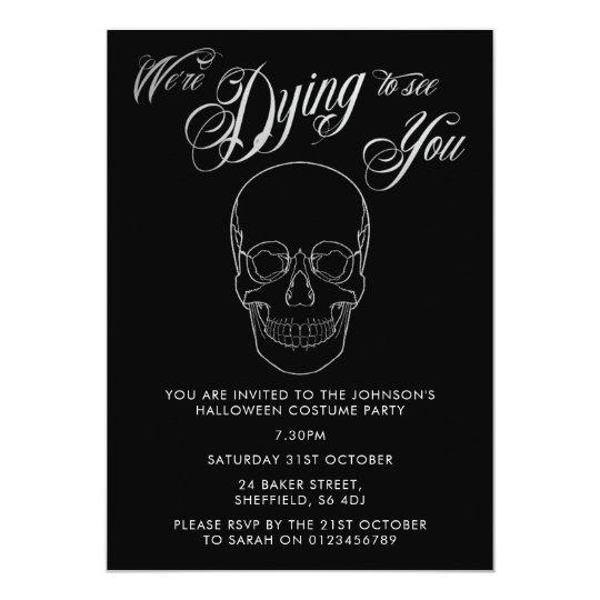 Halloween party invitation - elegant adult invite