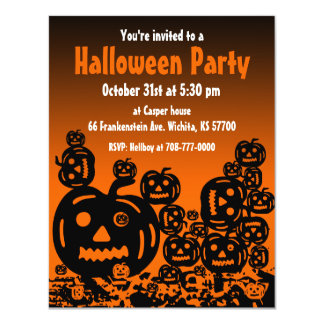 Halloween Party Invitation Jack O Lantern 5