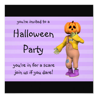 Halloween Party Invitations Happy Jack Square