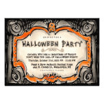 Halloween Party Invite - Black & Orange Border