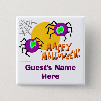 Halloween Party Nametag Buttons