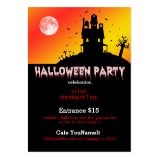 Halloween party pack of chubby business cards