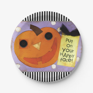Halloween party paper plate