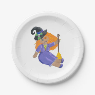Halloween Party plates - Witch doll