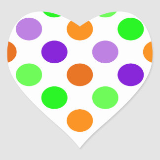 Halloween Party Polka Dots Heart Sticker
