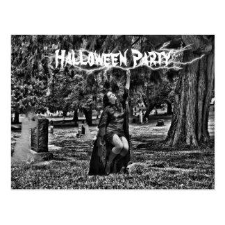 Halloween party postcard