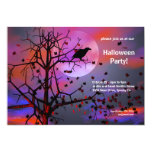 "Halloween Party Raven Night 5"" X 7"" Invitation Card"