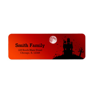 Halloween party return address label