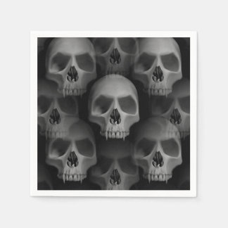Halloween party | scary skull paper napkin