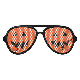 Halloween party shades with pumpkin head carving