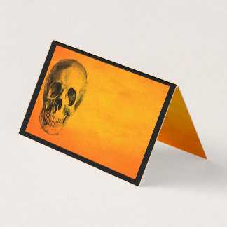 Halloween Party Spooky Skull Place Card