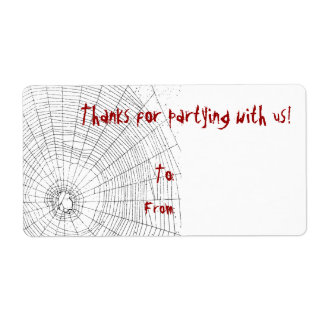 Halloween Party Thank You Gift Tags Shipping Label