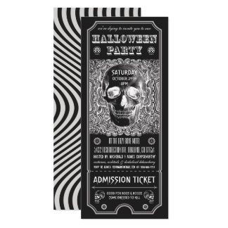 Halloween Party Ticket Invitations Psychedelic