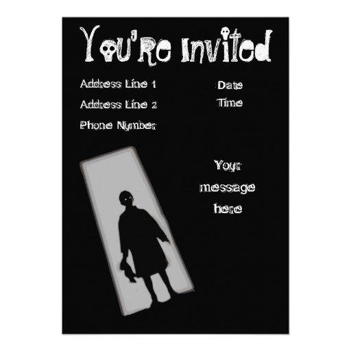 Halloween Party Twilight Zone Invitation
